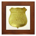 U S Indian Police Framed Tile