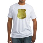 U S Indian Police Fitted T-Shirt