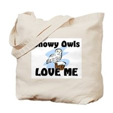 Snowy Owls Love Me Tote Bag