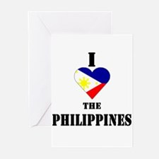 I Love The Philippines Greeting Cards (Package of