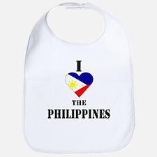 I Love The Philippines Bib