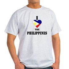 I Love The Philippines Ash Grey T-Shirt