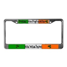McMahon in Irish & English License Plate Frame