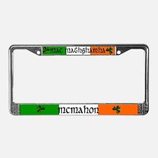 McMahon in Irish & English License Plate Frame
