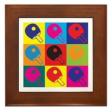 Table Tennis Pop Art Framed Tile