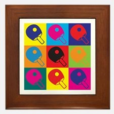 Table Tennis Pop Art Framed Tile