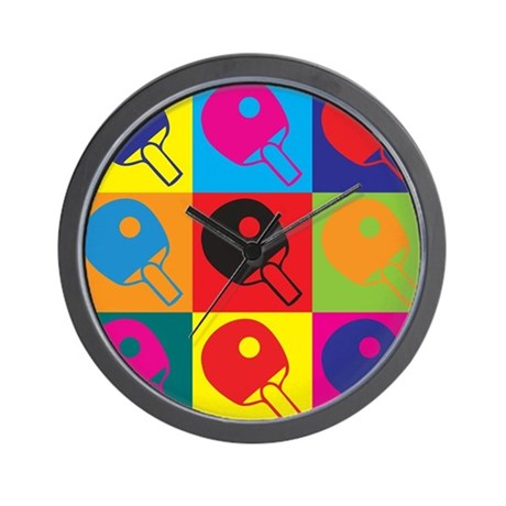 Table Tennis Pop Art Wall Clock