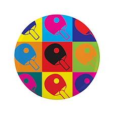 """Table Tennis Pop Art 3.5"""" Button (100 pack)"""