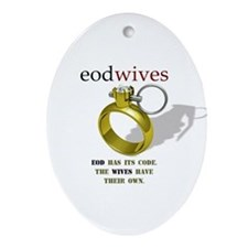 EOD WIVES Oval Ornament