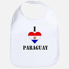 I Love Paraguay Bib