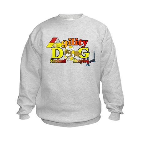 Sheltie Agility Kids Sweatshirt