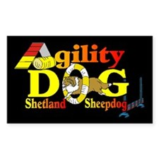 Sheltie Agility Rectangle Sticker 10 pk)