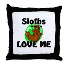 Sloths Love Me Throw Pillow