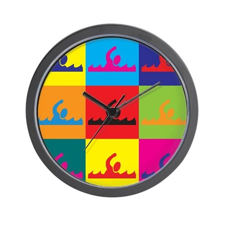 Swimming Pop Art Wall Clock