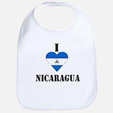 I Love Nicaragua Bib