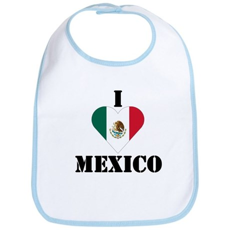 I Love Mexico Bib