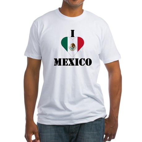 I Love Mexico Fitted T-Shirt
