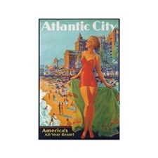 Atlantic City NJ Rectangle Magnet