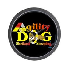 Agility Sheltie Wall Clock