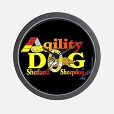 Agility Sheltie Wall Clock