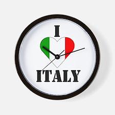 I Love Italy Wall Clock