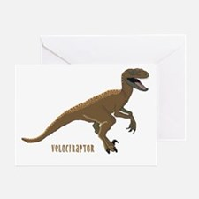 Velociraptor Dinosaur Birthday Card