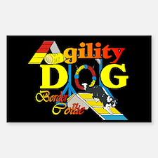 Border Collie Agility Rectangle Sticker 10 pk)