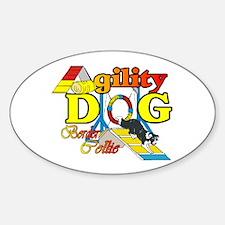 Border Collie Agility Oval Sticker (10 pk)