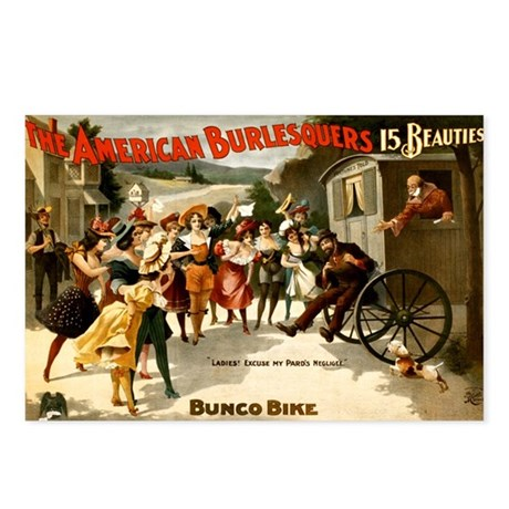 American Burlesquers Postcards (Package of 8)