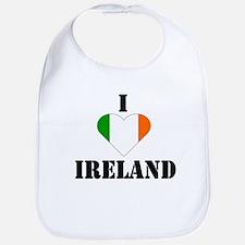 I Love Ireland Bib