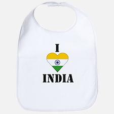 I Love India Bib