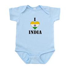 I Love India Infant Creeper