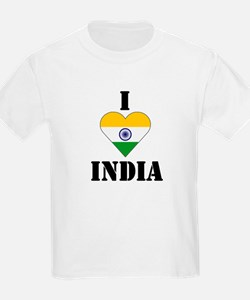 I Love India Kids T-Shirt