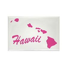 Pink Hawaii Rectangle Magnet