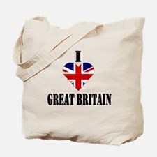 I Love Great Britain Tote Bag