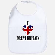 I Love Great Britain Bib