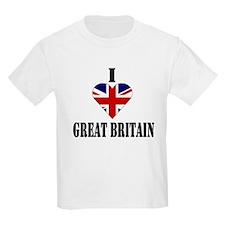 I Love Great Britain Kids T-Shirt