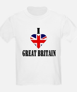 I Love Great Britain Kids T-Shirt
