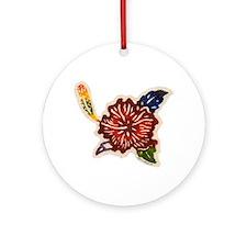 Hibiscus Bingata Ornament (Round)