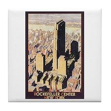 Rockefeller Center NYC Tile Coaster
