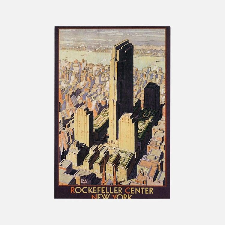 Rockefeller Center NYC Rectangle Magnet