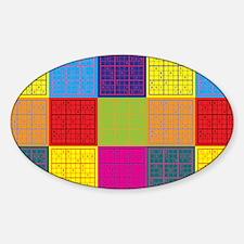 Sudoku Pop Art Oval Decal