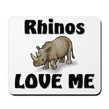 Rhinos Love Me Mousepad