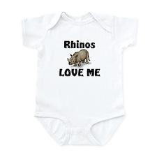 Rhinos Love Me Infant Bodysuit