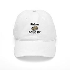 Rhinos Love Me Baseball Cap