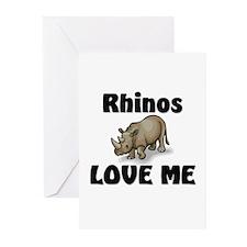 Rhinos Love Me Greeting Cards (Pk of 10)