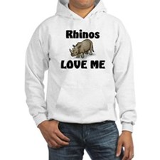 Rhinos Love Me Hoodie