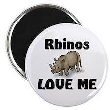 Rhinos Love Me Magnet