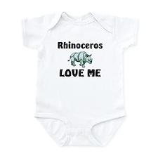 Rhinoceros Love Me Infant Bodysuit