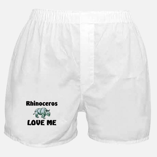 Rhinoceros Love Me Boxer Shorts